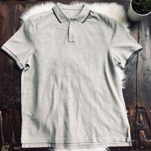 J. CREW Gray Pique Polo Shirt Men's XXL NEW NWT